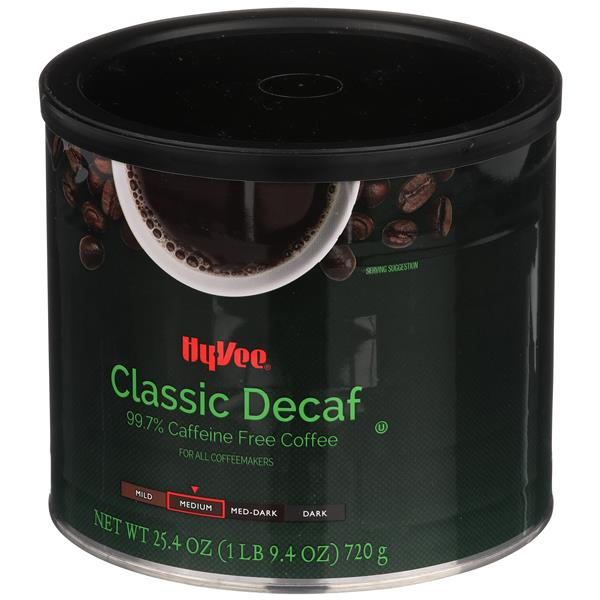 Hy-Vee Medium Classic Decaf Ground Coffee