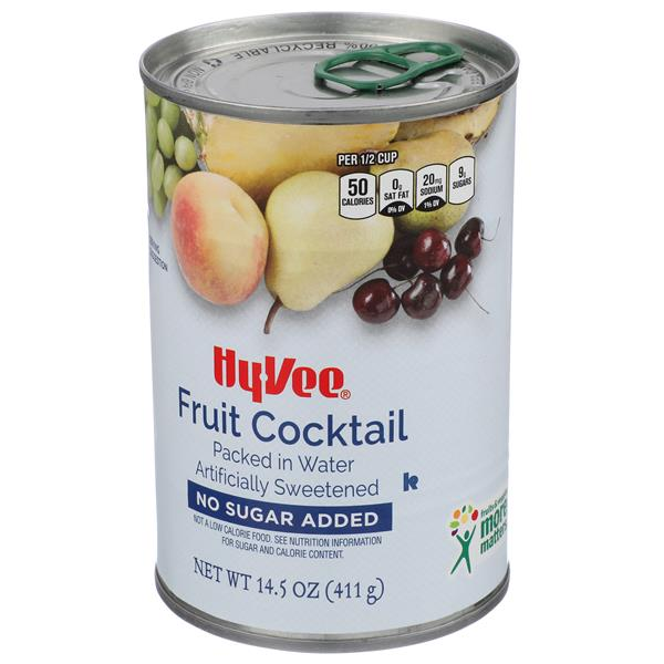 Hy-Vee Fruit Cocktail No Sugar Added Packed in Water