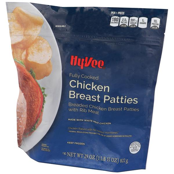 Hy-Vee Fully Cooked Breaded Chicken Breast Patties