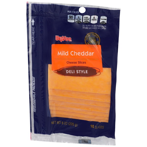 Hy-Vee Mild Cheddar Cheese Slices 10Ct