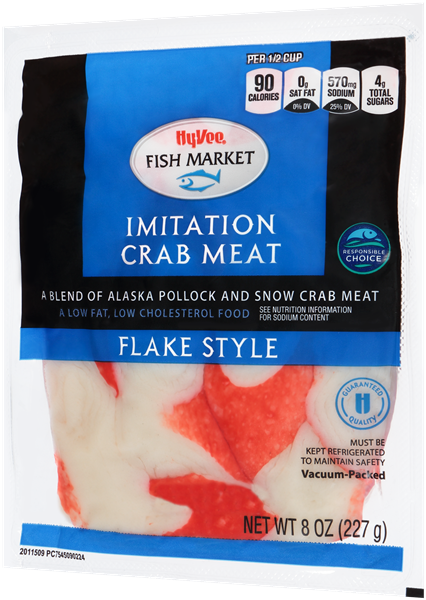 Hy-Vee Fish Market Imitation Crab Meat Flake Style